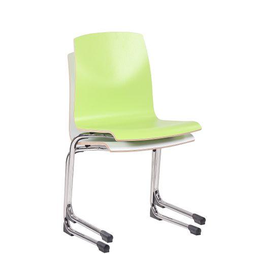 HPL skořepinové židle GREGOR možnost položení na stůl a stohování