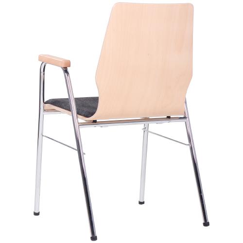 kovové stoličky škrupinové do učební