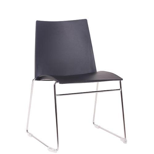 Kovové židle ARIS s možností stohování a plastovým sedákem