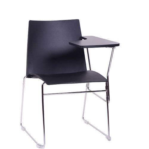 Kovové židle ARIS SEMINAR pro leváky s psací podložkou sklapovací odnímatelnou