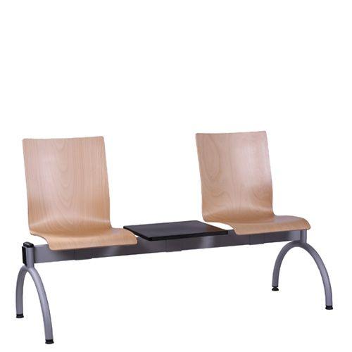 Kovové lavice do čekárny se stolem COMBISIT TC42T