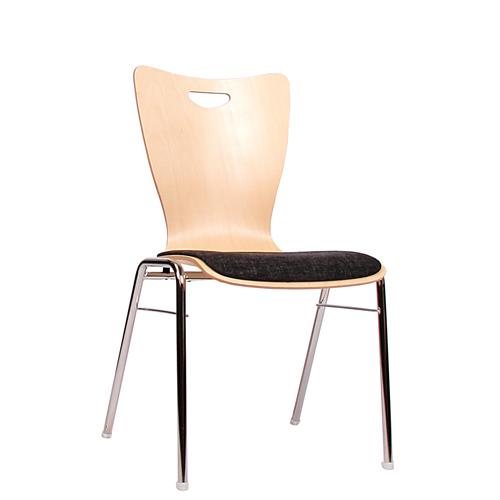 Čalouněná kovová židle