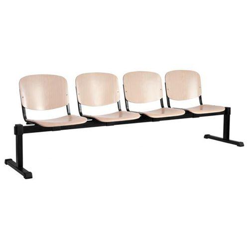 Sedací lavice do čekáren ISO WOOD 2-4 dřevěný sedák
