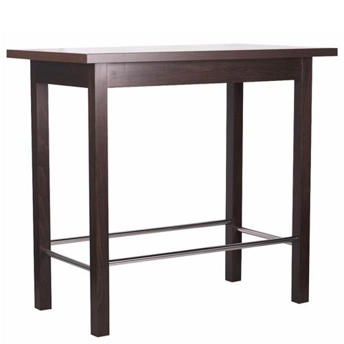 Dřevěné barové stoly s kovou tačkou