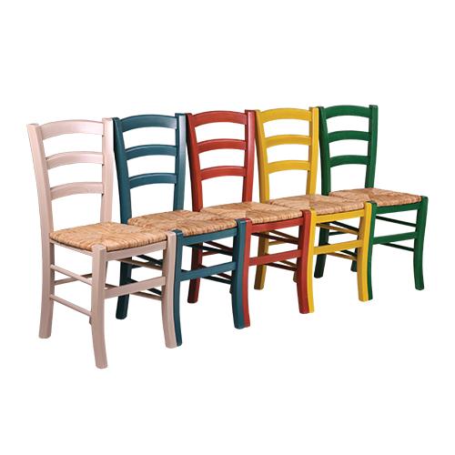 Dřevěné židle s výpletem RICARDO RS C