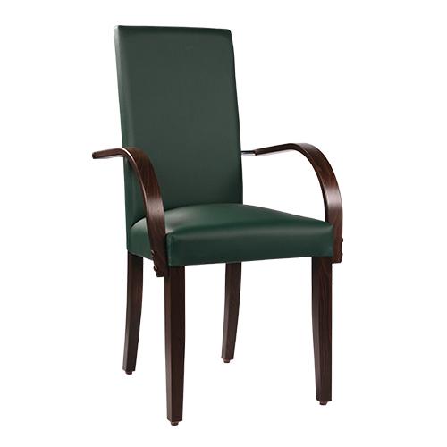 Dřevěná čalouněná židle THEA ALR