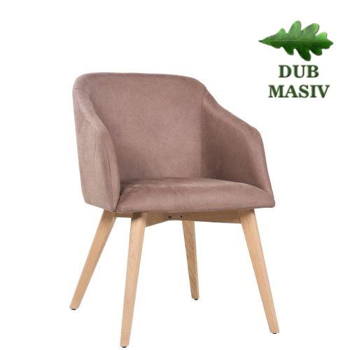 Designové restaurační čalouněné židle FABIAN ve skandinávském stylu masivní dub