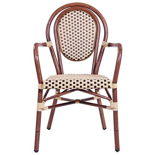 Zahradní židle hliníkové umělý výplet