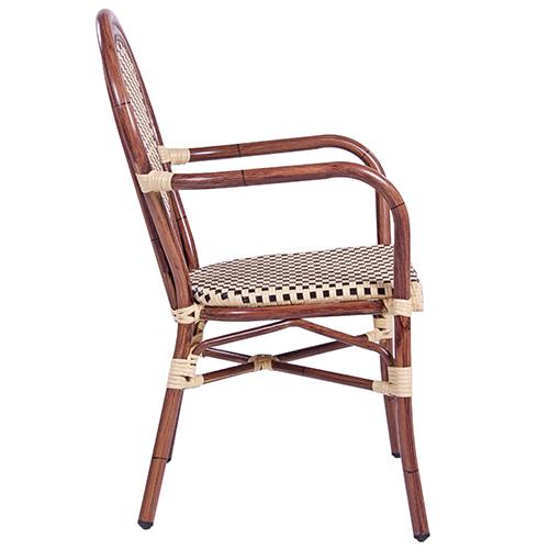 Záhradné stoličky hliníkové umelý výplet