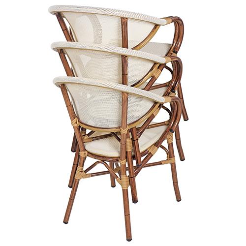 Zahradní židle stohovatelné