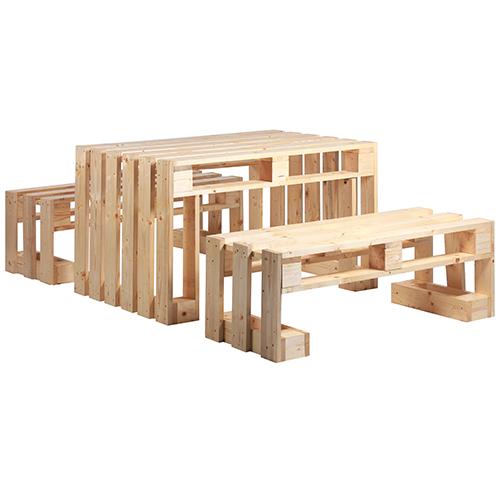 Nábytek z palet PALDIS stůl a židle