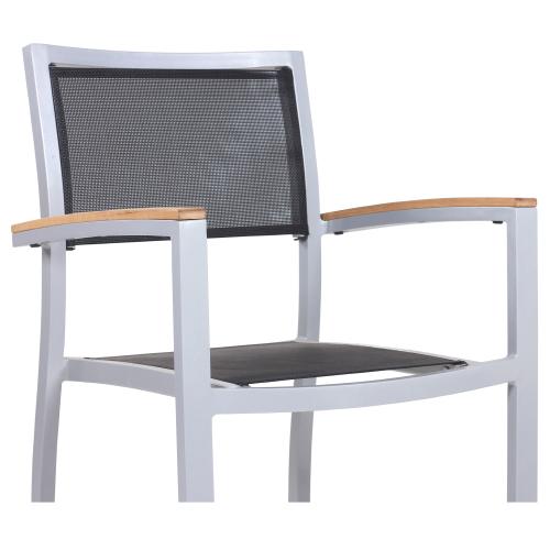 Zahradní židle s hliníkovou konstrukcí