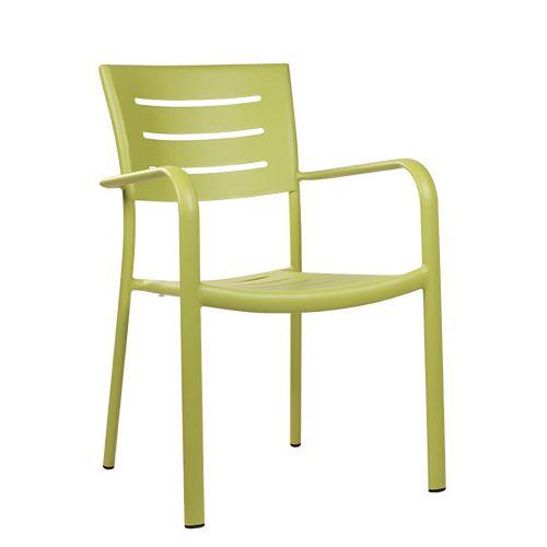 Hliníkové zahradní židle BARIO limetková barva