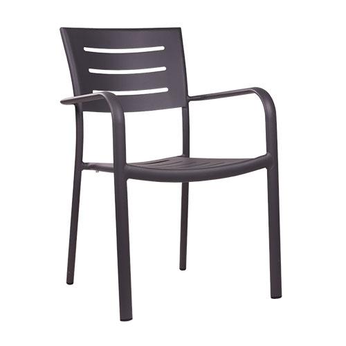 Záhradné hliníkové stoličky