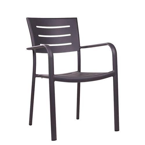 Hliníkové zahradní židle BARIO šedá antracit barva