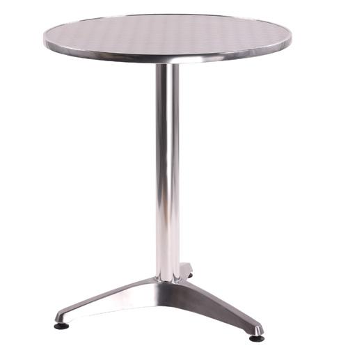 Hliníkové venkovní stoly na jedné noze