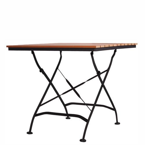 Zahradní teakové platsové stoly sklapovací