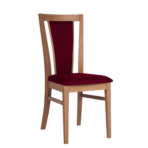 Dřevěné čalouněné jídelní židle