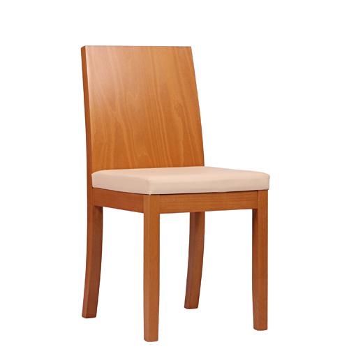 Dřevěné čalouněné židl epro restaurace