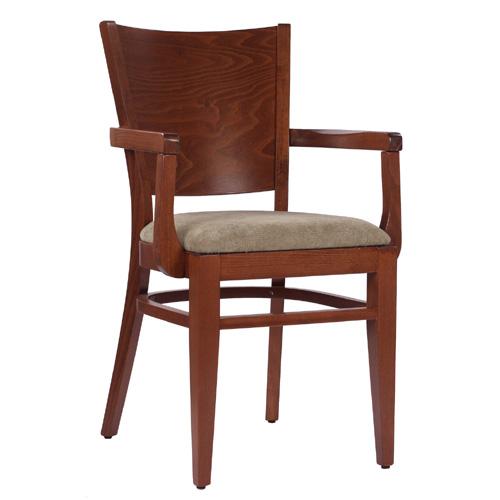 Dřevěné židle z ohýbaného masivního dřeva pro restaurace