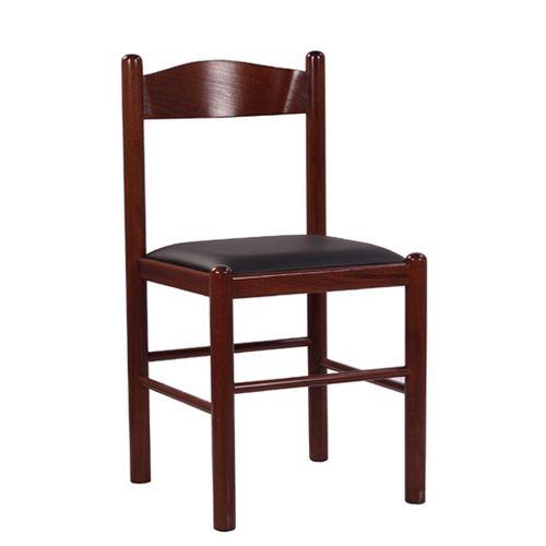 Dřevěná židle PICO s čalouněním