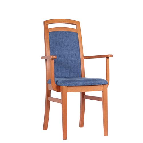 Dřevěné čalouněné židle do restaurace s područkou nebo loketníkem