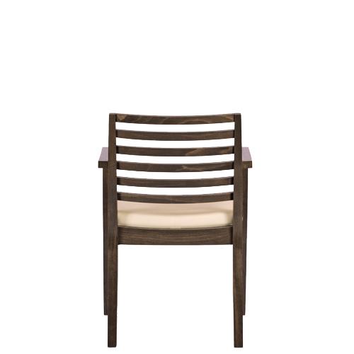 Čalouněné dřevěné židle s područkou