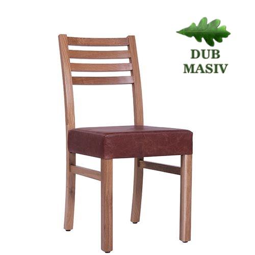 Dřevěné čalouněné židle ARMANDO P dub masiv