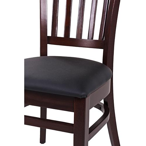 Dřevěné židle čalouněný sedák