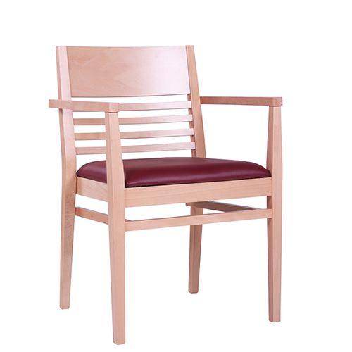 Dřevěné židle s loketní opěkou