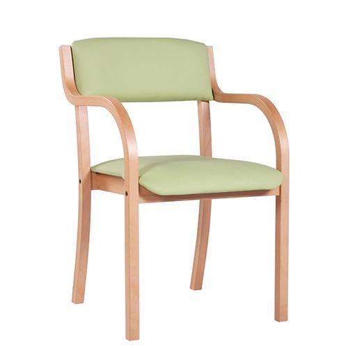 Dřevěné židle LENA AL s možností stohování