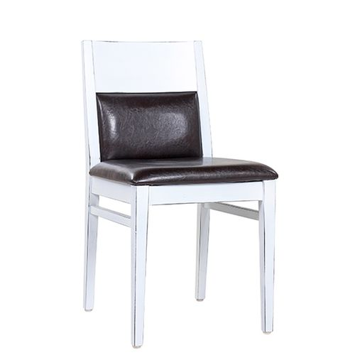 Dřevěné židle LAURETTA V úprava Vintage Look bílá