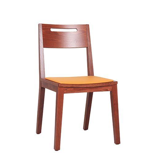 Židle FIN GSP pro restaurace a bistra otvor pro uchopení