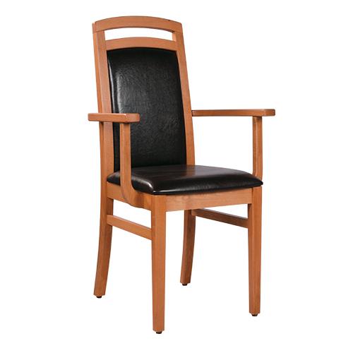 Dřevěná židle čalouněná HEROLD AL