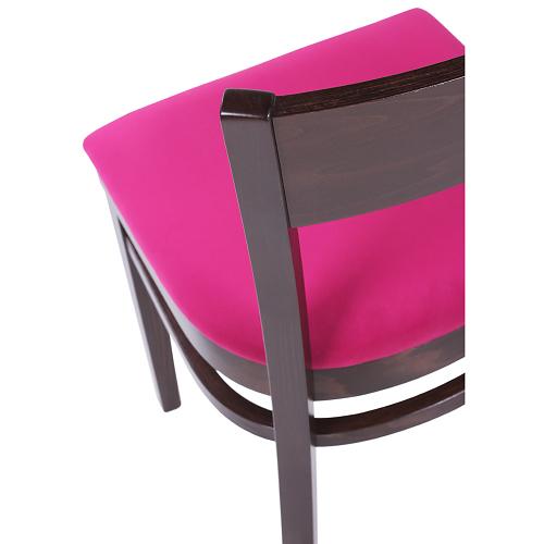 Dřevěné židle ohýbané čalouněné pro restaurace