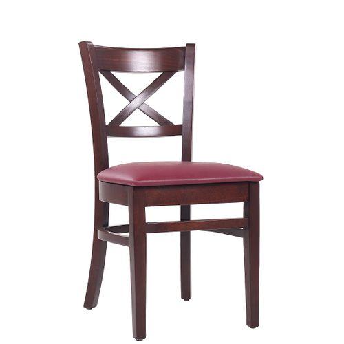 Dřevěné restaurační židle PATTY P čalouněný sedák