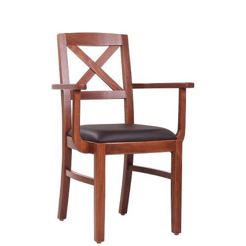 Dřevěná židle čalouněná ALEX AL