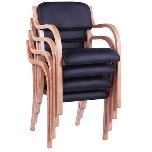 Dřevěné židle JANA AL do čekáren s možností stohování