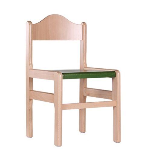 Dětské dřevěné jídelní židle D1, různé barvy a výšky