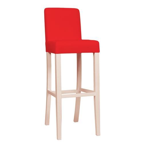Dřevěné barové čalouněné židle
