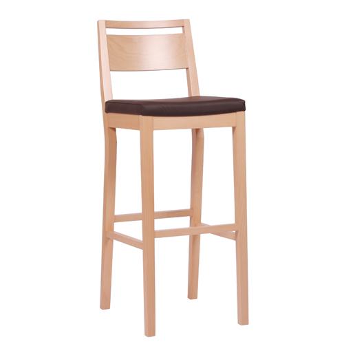Dřevěná barová židle LUCAS P