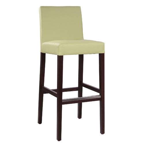 Čalouněná dřevěná barová židle FALCO