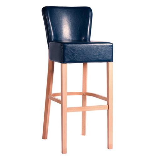 Čalouněná dřevěná barová židle TANJA BAR
