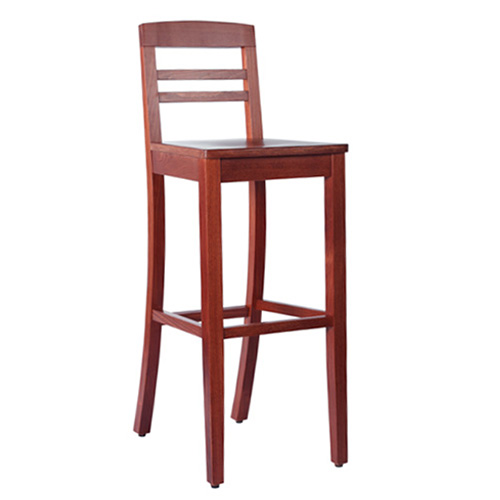 Dřevěná masivní barová židle