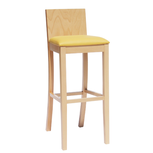 Čalouněná dřevěná barová židle MARINO BAR