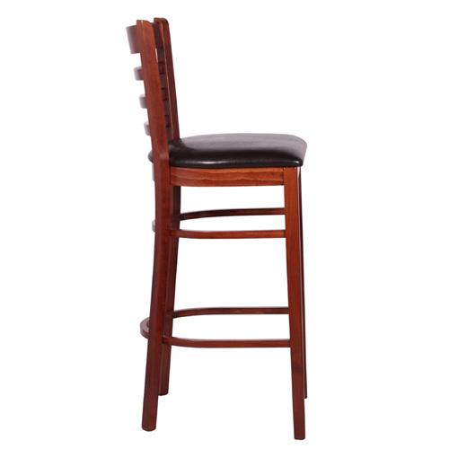 Dřevěné čalouněné barové židle do bistra