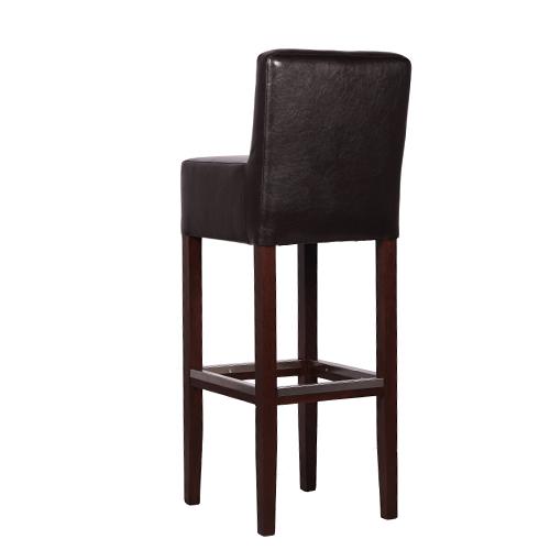 Čalouněné barové dřevěné židle