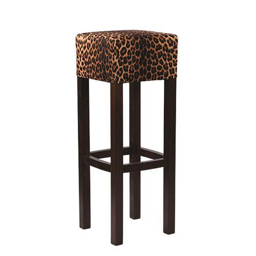 Dřevěná barová židle FABIO SAFARI