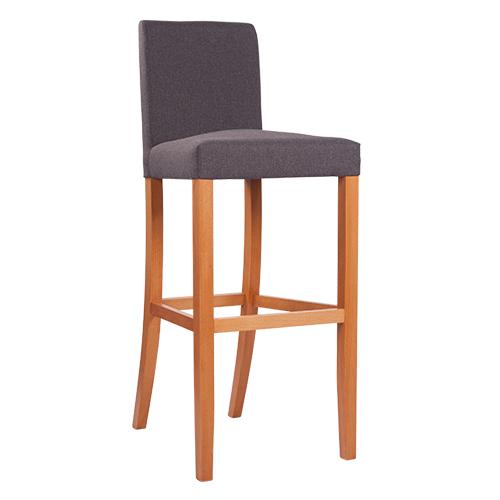 Čalouněná dřevěná barová židle THEA BAR