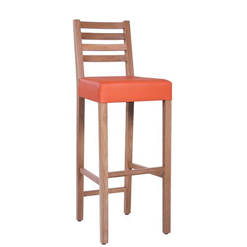 Dubové barové židle s čalouněným sedákem